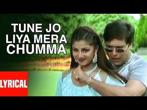 Tune Jo Liya Mera Chumma Lyrical Video   Beti No.1   Anuradha Paudwal, Abhijeet   Govinda