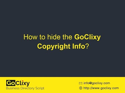 GoClixy - How to Hide the GoClixy Copyright Info?