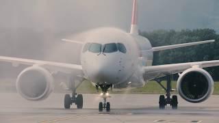 Download Video Arrivée du nouveau C Series de SWISS à Genève Aéroport MP3 3GP MP4