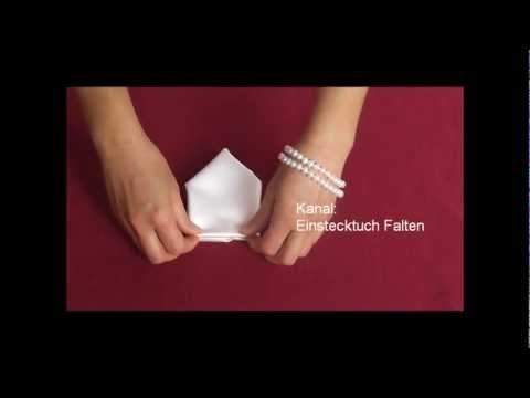 Einstecktuch Falten - Verschiedene Falttechniken - ASMR
