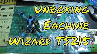 Unboxing Eachine Wizard TS215 FPV Racing RC Drone F4 5.8G 72CH 40A BLHeli_32 720P DVR RunCam Swift 2