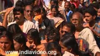 Vidyarambham ceremony at Thiruvullakkavu temple, Thrissur