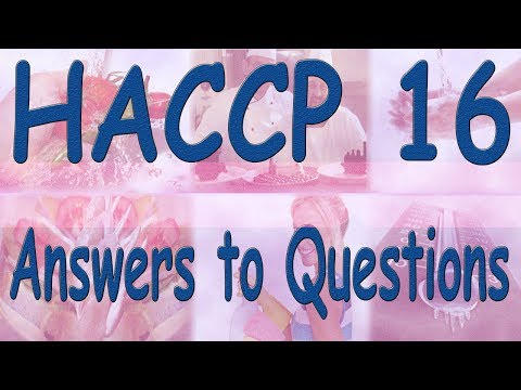 HACCP Answers to Quiz Questions - YouTube