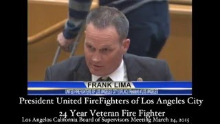 """""""Stop the Cell Tower"""" President United FireFighters of Los Angeles City"""