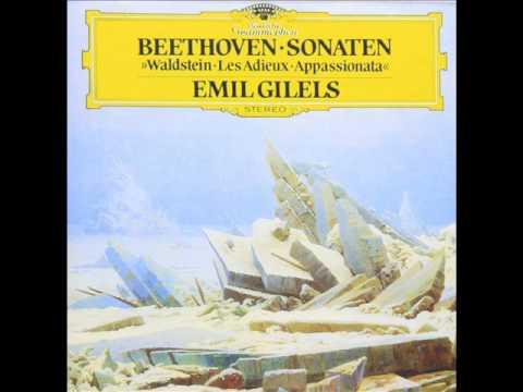 ベートーヴェン:ピアノソナタ第23番「熱情」:ギレリス(p)