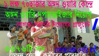 West Bengal Govt. Recruits ICDS Supervisor In ICDS Center Or Anganwadi Kendra.