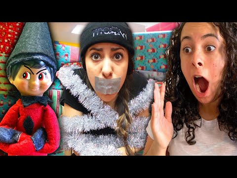 Bad elf on a shelf full movie   christmas pranks  caught moving  indoor snowstorm and more