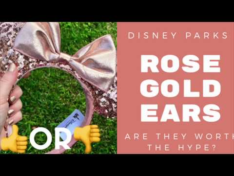 DISNEY PARKS ROSE GOLD EARS-UP CLOSE VIEW AND REVIEW!