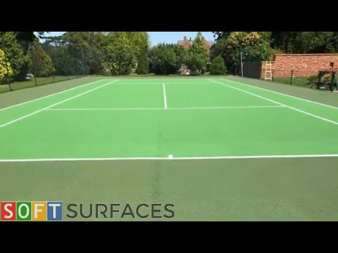 Cleaning and Painting Tennis Surface in Manchester, Greater Manchester   Clean & Paint Job
