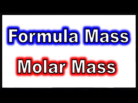 Download Formula Mass and Molar Mass of a Compound Mp4 HD Video and MP3