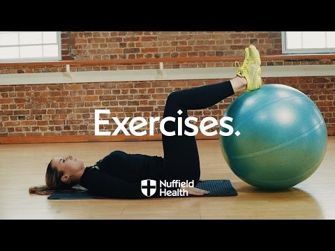 Exercise Ball Dumbbell Curl