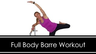 FULL BODY BARRE WORKOUT: AT HOME: Full Length 30 MINUTES: Dumbbells & Mini Ball by Workout Hotel