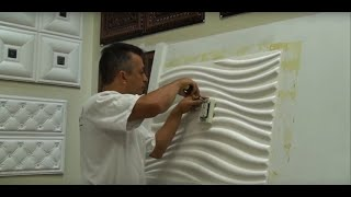 How to Install 3D Wall Panels Around Outlets and Light Switches - Talissa Decor