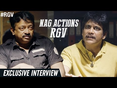 NAG Actions RGV | Officer Exclusive Interview | Nagarjuna | Myra | #OfficerReportingOnJune1st | RGV