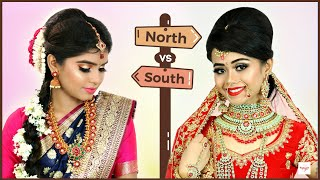 BEAUTY BATTLE - North Indian vs South Indian Makeup | Step By - Download this Video in MP3, M4A, WEBM, MP4, 3GP
