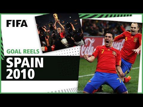 All of Spain's 2010 World Cup Goals | Villa Iniesta & Puyol!