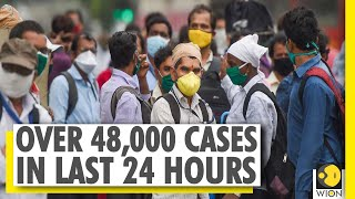 India records over 48,000 COVID-19 cases in last 24 hours | Coronavirus Outbreak  IMAGES, GIF, ANIMATED GIF, WALLPAPER, STICKER FOR WHATSAPP & FACEBOOK