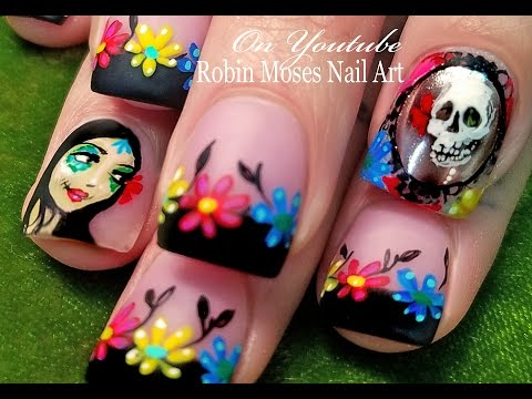 The Day of the Dead Nails | Chrome Mirror Nail Art Design Tutorial