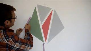 איך לצבוע קווים ישרים | איך ליצור קו הפרדה ישר בין שני צבעים שונים