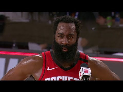 James Harden Postgame Interview | Rockets vs Mavericks | July 31, 2020
