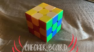 How to do a checker board pattern on a Rubik's cube!