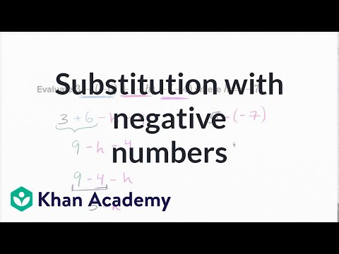 Substitution with negative numbers (video) | Khan Academy