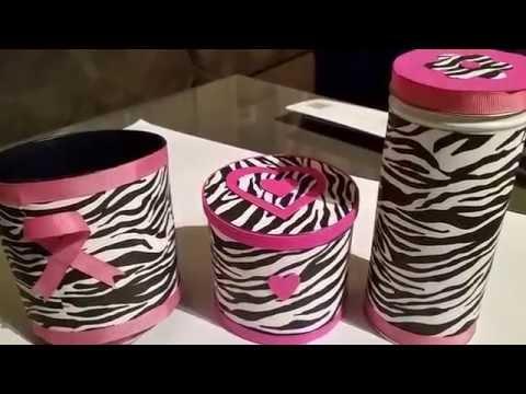 DIY Lindos contenedores para brochas y cosméticos
