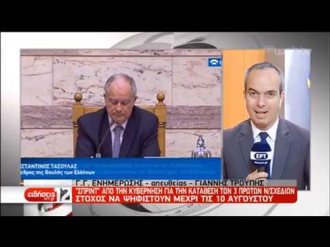 Στη Βουλή οδεύουν τα νομοσχέδια για επιτελικό κράτος, φορολογικό και Τοπική Αυτοδ.|22/07/19|ΕΡΤ
