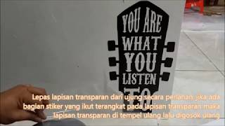 Wall Stiker Dinding Kaca Quotes Think Outsid Box Sticker Kamar Rumah Kantor