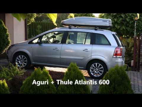 Aguri Runner roof bars + Thule Atlantis 600 - Opel Vauxhall Zafira - belki Taurus