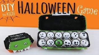 Easy DIY | Halloween Party Game for Kids | Egg Carton & Golf Ball Craft
