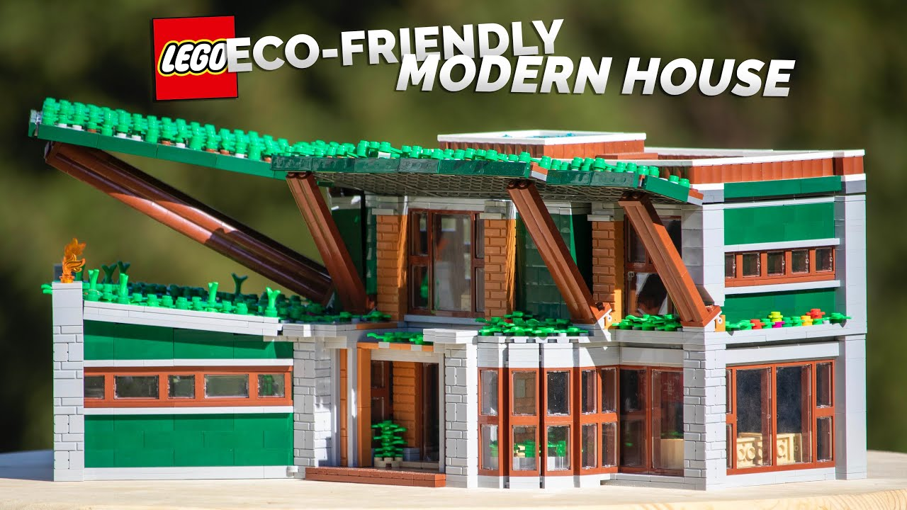 LEGO Ultra Eco-Friendly Modern Vacation Home! // 3,000+ Pieces, 2 Floors, Ultra- Angled LEGO MOC