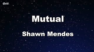 Mutual   Shawn Mendes Karaoke 【With Guide Melody】 Instrumental