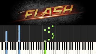 The Flash - Main Theme (Piano Tutorial + sheets)