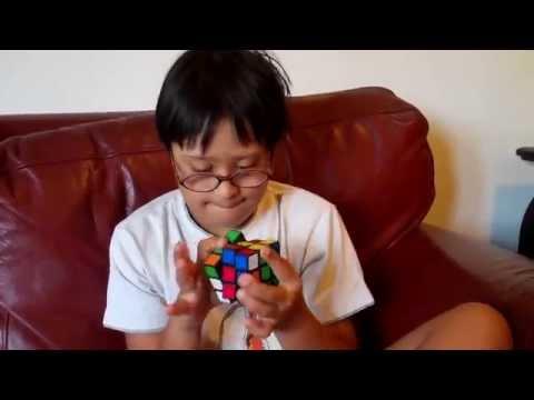 Watch videoMihaan solving the Rubik