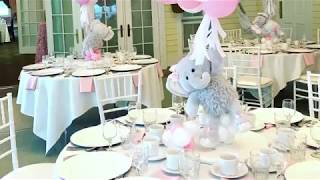Baby Girl Elephant Theme Baby Shower Elephant Air Balloons Teddy Bear Air Balloon /Delayne House