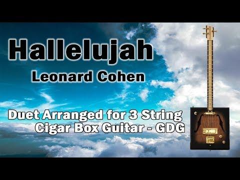 Leonard Cohen - Hallelujah - Duet for Cigar Box Guitar - Tab - Chords