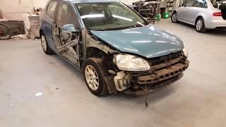 VW Golf5. Проблемный в кузовном ремонте автомобиль/Body problems