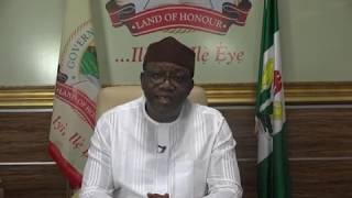 Governor Kayode Fayemi COVID-19 Broadcast