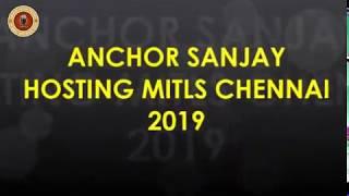 Anchor Sanjay Potdar hosting MITLS Conference at Chennai Hilton Hotel