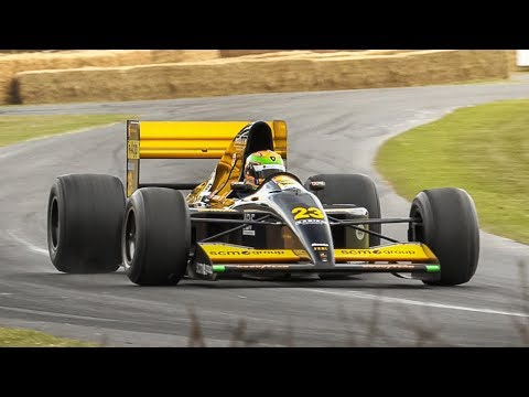 1992 Minardi M191B F1 w/ Lamborghini 3.5L V12 Engine in action at FoS 2019!