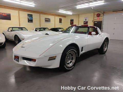 1981 White Corvette Red Leather Interior For Sale Video