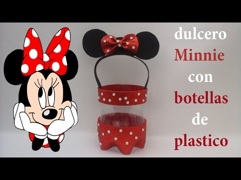 Dulcero De Minnie Mouse Con Foamy Y Botellas De Plástico Mp3