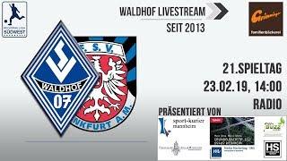 20.Spieltag: SV Waldhof 07 - FSV Frankfurt (Radio)