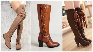 Latest Long Boots Shoes Designs For Women