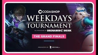 evos vs aerowolf match 2 grandfinal codashop weekdays tournament