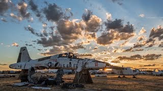 There's a 'Boneyard' in Arizona where most US military planes go after they've been decommissioned