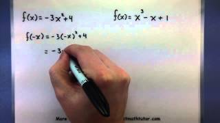 Pre-Calculus - Determine if a function is even or odd
