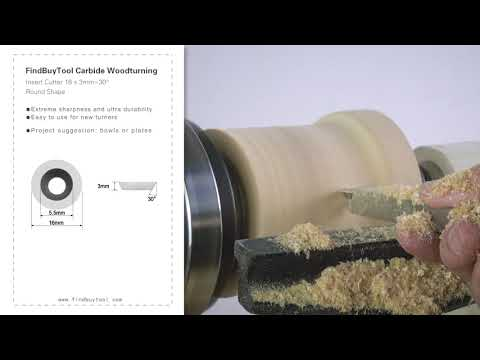 FindBuyTool Carbide Woodturning Insert Cutter 16 x 3mm-30° Round Shape