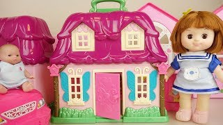 Baby doll house and car play baby Doli house
